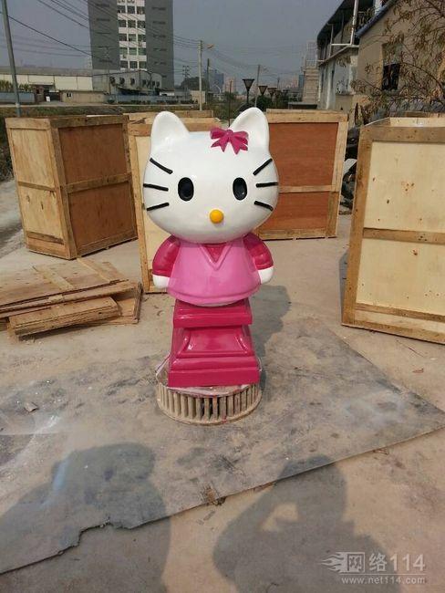 玻璃钢KT猫雕塑摆饰