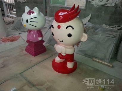 卡通人物小红娃玻璃钢雕塑