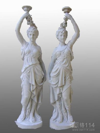 花盆少女玻璃钢雕塑