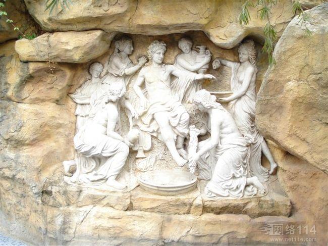 希腊抽象人物雕塑(玻璃钢纤维人物雕塑)