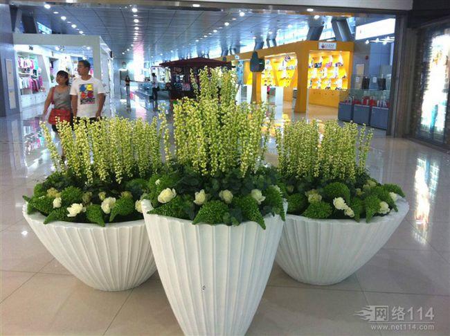 室内花盆玻璃钢雕塑