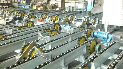 Conveying line, steel pipe translator, steel pipe transfer machine, electric transfer machine,