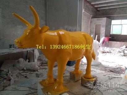 玻璃钢雕塑牛价格|仿真牛雕塑|玻璃钢动物雕塑