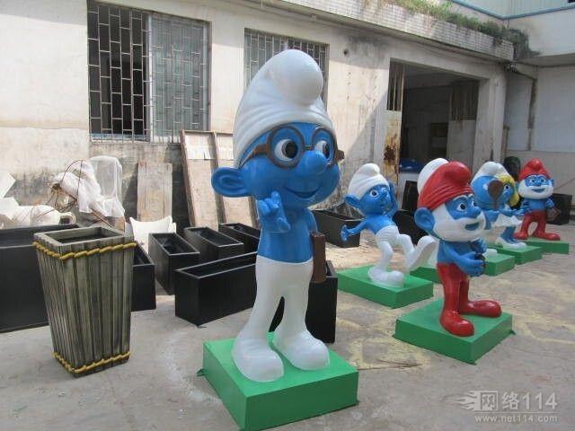 蓝精灵玻璃钢雕塑