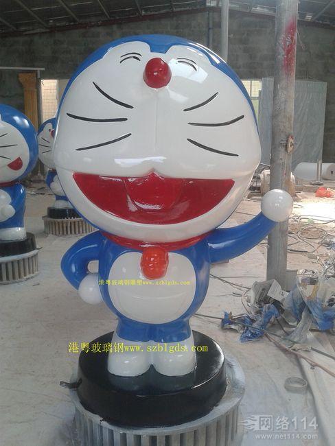多啦a梦蓝胖纸玻璃钢人物雕塑
