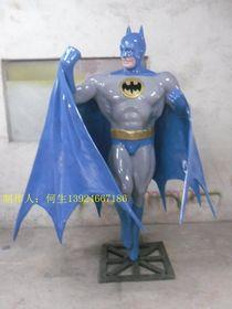 超级蝙蝠侠超人造型雕塑查看原图(点击放大)