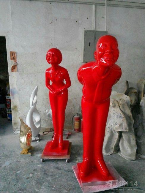 酒店迎宾雕塑【玻璃钢纤维造型雕塑】
