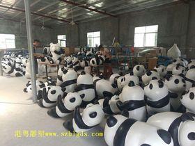 定制熊猫雕塑模型【玻璃钢纤维动物雕塑】查看原图(点击放大)