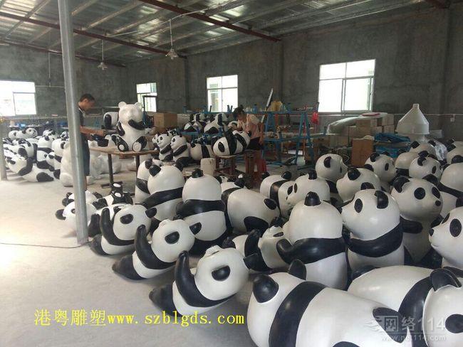 动物园熊猫雕塑【玻璃钢纤维动物雕塑】
