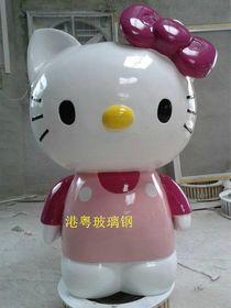 玻璃钢KT猫|深圳KT猫雕塑厂家查看原图(点击放大)