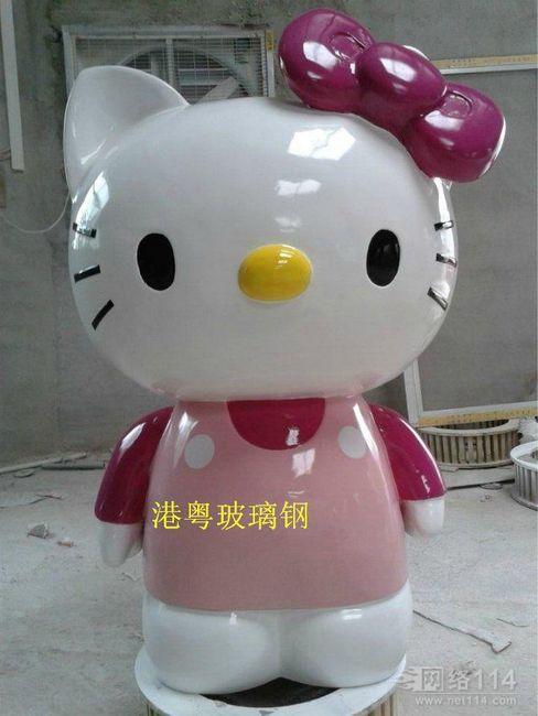 玻璃钢KT猫|深圳KT猫雕塑厂家