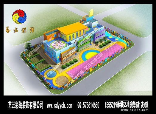 安阳广源幼儿园室外墙体彩绘设计图片