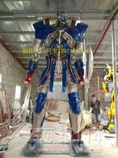 美陈变形金刚机器人雕塑