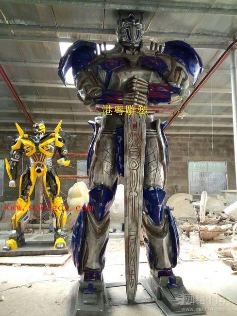 机器人雕塑制作|深圳玻璃钢机器人雕塑厂家