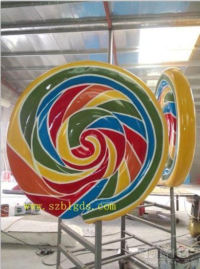 巨型棒棒糖玻璃钢雕塑