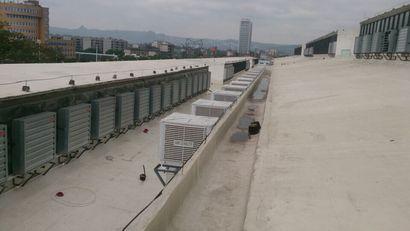 Smoke exhaust and heat negative pressure exhaust fan of Liuzhou steel structure factory building