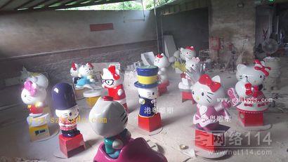 玻璃钢KT猫雕塑厂家