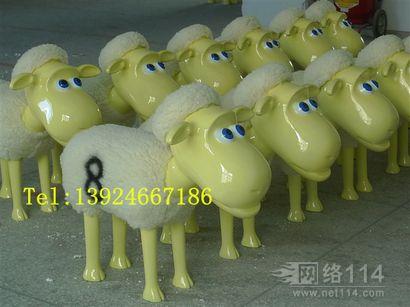佛山羊年雕塑|卡通羊雕塑制作|佛山玻璃钢厂家