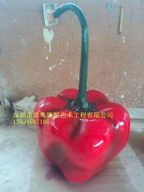 巨型仿真红辣椒玻璃钢雕塑【玻璃钢造型纤维雕塑】查看原图(点击放大)