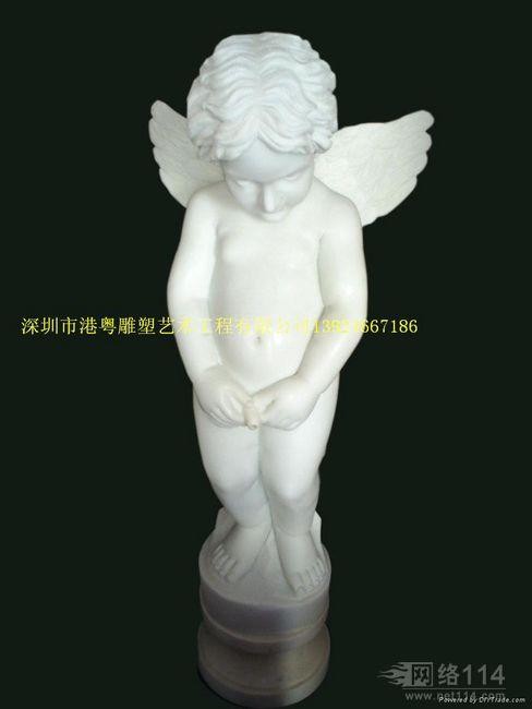 古希腊小天使雕塑【玻璃钢纤维人物雕塑】