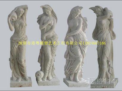 仿真古希腊神话人物【玻璃钢人物纤维雕塑】