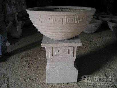 纤维室外花盆雕塑制作