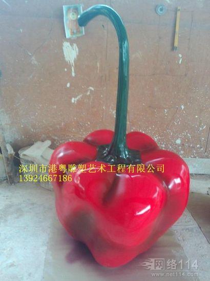 卡通版红辣椒造型【玻璃钢造型纤维雕塑】