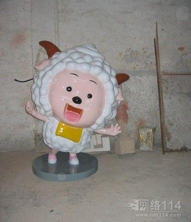 喜羊羊动漫雕塑定制户外卡通雕塑摆件