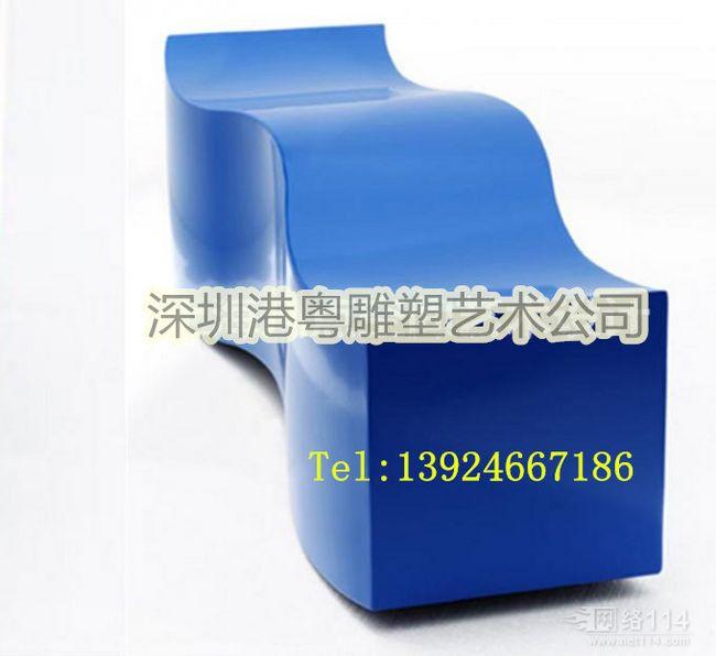商场美陈蛇形休闲椅【玻璃钢纤维造型雕塑】