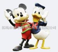 迪士尼米奇米妮唐老鸭玻璃钢雕塑查看原图(点击放大)