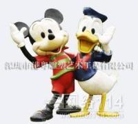 迪士尼米奇米妮唐老鸭玻璃钢雕塑