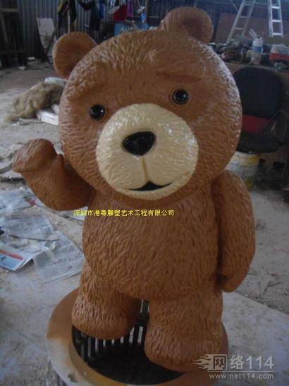 纤维熊本熊雕塑