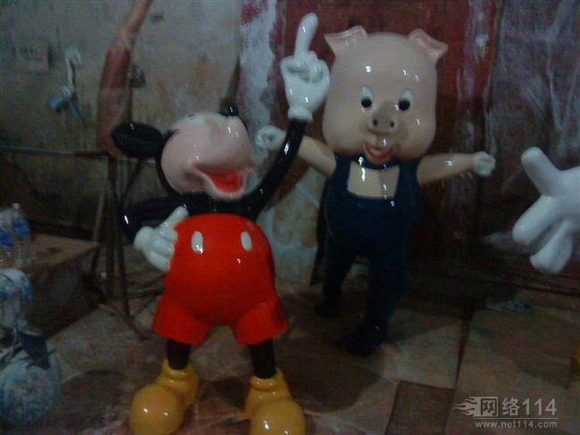上海迪士尼乐园米奇米妮人物雕塑【玻璃钢纤维卡通雕塑】