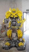 影视机器人模型雕塑【玻璃钢卡通纤维雕塑】