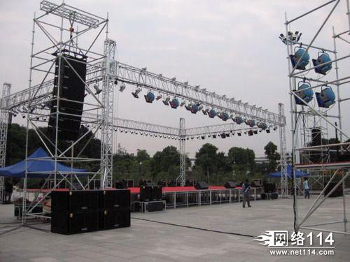年会庆典的舞台灯光音响工程