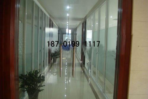 优质铝合金玻璃百叶隔断,办公室高隔断,成品隔断