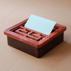"""红木工艺品生产厂家、红木办公用品""""承天""""便签盒"""