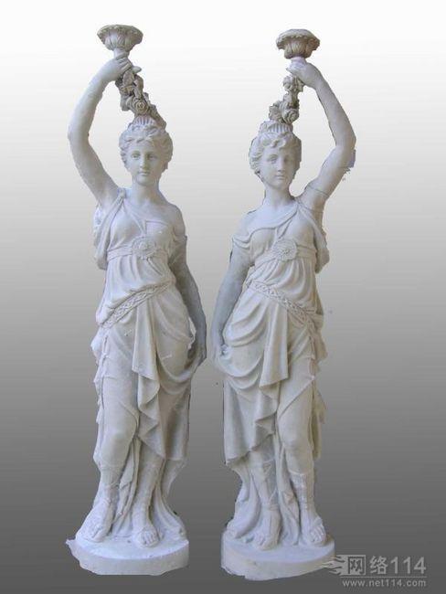 玻璃钢西方女人雕塑