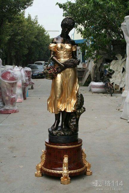 玻璃钢黑人雕像