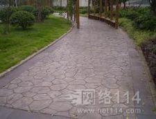 武汉彩色压模混凝土路面
