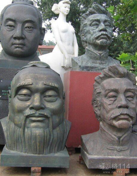 人物雕塑,玻璃钢肖像雕塑