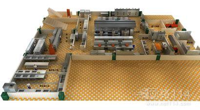 商用厨房设计,酒店效果图制作