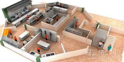 商用厨房设计,广州酒店效果图制作
