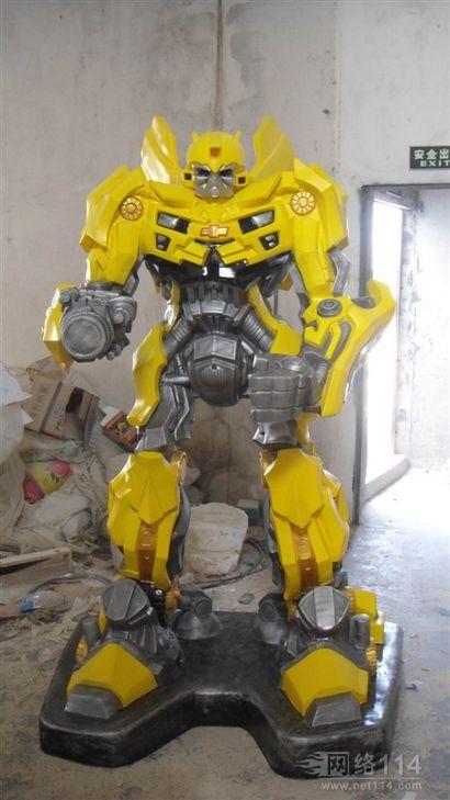 玻璃钢机械人雕塑,大黄蜂价格