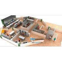 商用厨房效果图制作