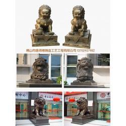 铜狮子整体铸造铜狮子