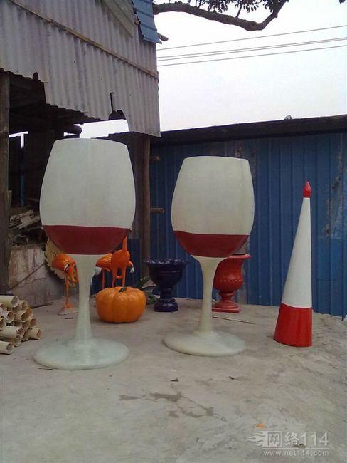 红酒杯造型|音符咖啡杯雕塑|玻璃钢造型制作