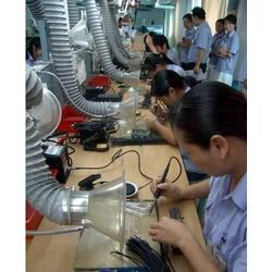 深圳电子厂车间烙铁焊锡排烟维修抽风管道项目安装