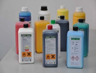 Supply of inkjet printer ink