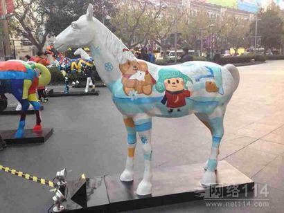 雕塑彩绘马